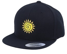 Kids Sun Black Snapback - Kiddo Cap