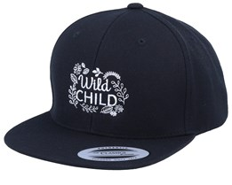 Kids Wild Child Black Snapback - Kiddo Cap