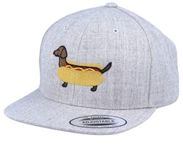 Kids Hot Dog Heather Grey Snapback - Kiddo Cap
