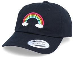 Rainbow Black Dad Cap Adjustable - Iconic