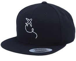 Airplane Black Snapback - Bacpakr