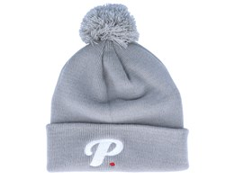 Period P Pom Pom Light Grey Beanie - Period