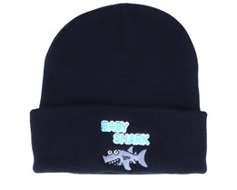 Kids Baby Shark Black Beanie - Kiddo Cap