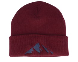 Mountain Burgundy Beanie - Iconic
