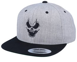 Inverted Skull Grey/Black Snapback - Tattoo Collective