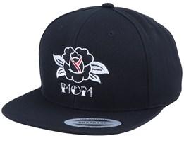 Mom Rose Black Snapback - Tattoo Collective