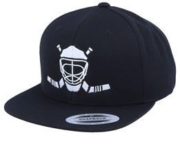 Modern Hockey Logo Black Snapback - Forza