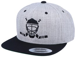 Modern Hockey Logo Heather Grey/Black Snapback - Forza