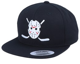 Jason Hockey Logo Black Snapback - Forza