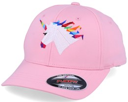 Kids Rainbow Paper Unicorn Pink Flexfit - Origami