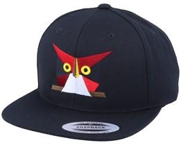 Paper Owl Black Snapback - Origami
