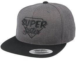Super Sister Charcoal Snapback - Iconic