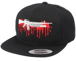 Bloody M16 Black Snapback - GUNS n SKULLS