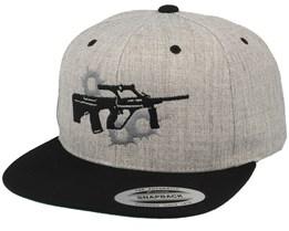 Steyr AUG Heather Grey Snapback - GUNS n SKULLS