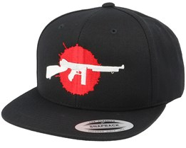 Bloody Tommy Gun Black Snapback - GUNS n SKULLS