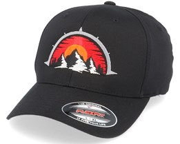 Mountain Compass Black Flexfit - Wild Spirit