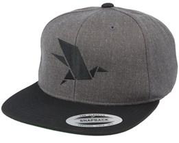 Bird Logo Charcoal Snapback - Origami