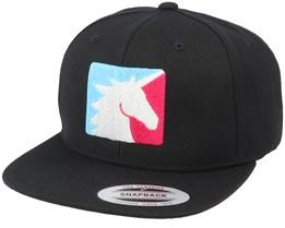 Unicorn Sport Logo Black Snapback - Unicorns