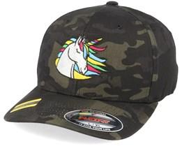 Rainbow Unicorn Black Camo Flexfit - Unicorns