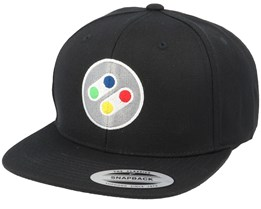 Super Buttons Black Snapback - Gamerz