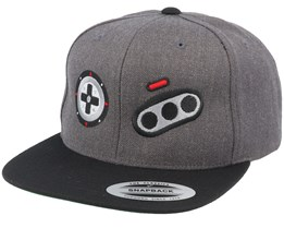 Mega Buttons Charcoal Snapback - Gamerz