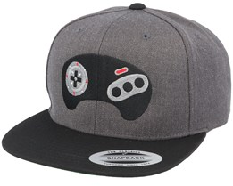 Mega Game Pad Charcoal Snapback - Gamerz