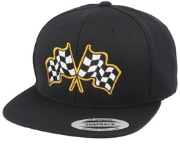 Racing Flags Black Snapback - Born To Ride