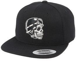 Biker Skull Black Snapback - Born To Ride