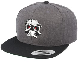 Red Eye Skull Charcoal/Black Snapback - Iconic