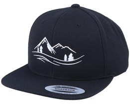 Nature Lines Black Snapback - Wild Spirit