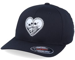Skeleton Love Black Flexfit - Calaveras