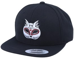 Cat Mask Black Snapback - Calaveras