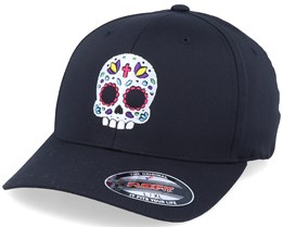 Cute Color Skull Black Flexfit - Calaveras