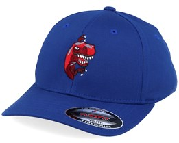 Kids Peeping Dino T-rex Royal Blue Flexfit - Kiddo Cap