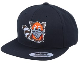 Hatsie The Red Panda Black Snapback - Iconic