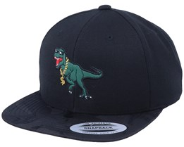 Thug Life T-rex Applique Black Camo Snapback - Iconic