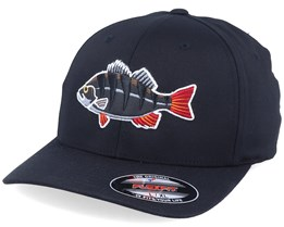 Perch Black Applique Black Flexfit - Hunter