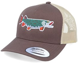 Pike Green Applique Brown/Khaki Trucker - Hunter