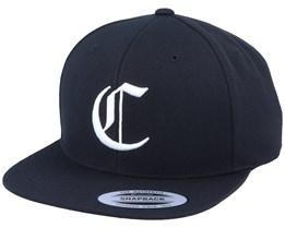 C Letter 3D Black Snapback - Iconic