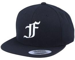 F Letter 3D Black Snapback - Iconic