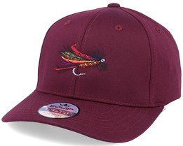 Thunder & Lightning Fishing Fly Maroon Adjustable - Iconic