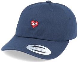 Broken Mended Heart Navy Dad Cap - Iconic