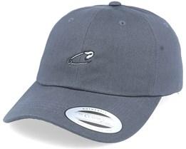 Tiny Safety Pin Dark Grey Dad Cap - Iconic