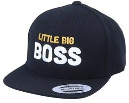 Kids Little Big Boss Black Snapback - Kiddo Cap