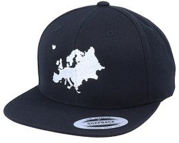 Euro Map Black Snapback - Bacpakr