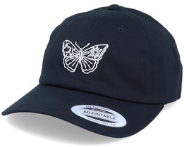 Butterfly Black Organic Dad Cap - Iconic