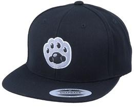 Kids Cat Paw Applique Black Snapback - Kiddo Cap