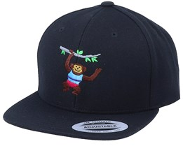 Kids Climbing Monkey Black Snapback - Kiddo Cap