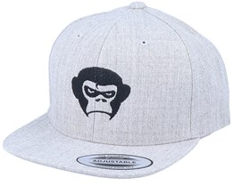 Kids Grumpy Monkey Heather Grey Snapback - Kiddo Cap