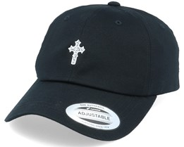 Christian Celtic Cross Dad Cap Black Adjustable - Iconic